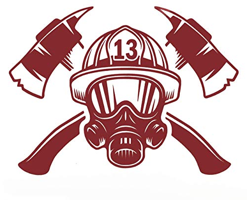 Custom Rescue Crossed Axes Firefighter Vinyl Decal - Fireman Bumper Sticker, for Laptops or Car Windows - Pick Size and Color Vinyl Transfer-WickedGoodz