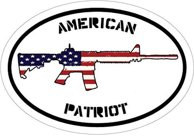 WickedGoodz Red White and Blue American Patriot AR-15 Vinyl Window Decal - Patriotic Bumper Sticker - Perfect 2nd Amendment Pro Gun Gift-WickedGoodz