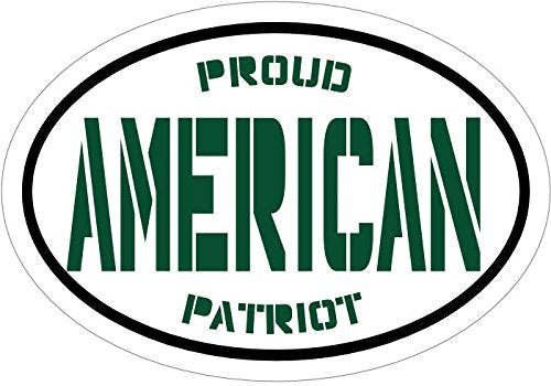 WickedGoodz Green Proud American Patriot Vinyl Window Decal - Patriotic Bumper Sticker - Perfect Pro American USA Gift-WickedGoodz