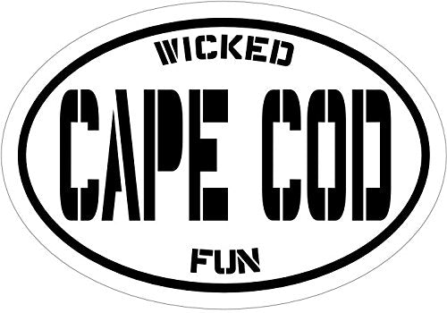 Oval Wicked Fun Cape Cod Vinyl Decal - Massachusetts Bumper Sticker - Perfect Beach Souvenir Gift-WickedGoodz