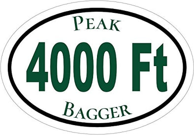 Mountain Bumper Sticker Perfect Outdoor Enthusiast Gift WickedGoodz Oval Vinyl Green Get Lost Mountain Decal