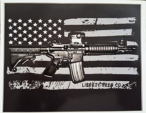 Distressed American Flag AR-15 Vinyl Decal-WickedGoodz