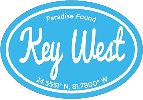 WickedGoodz Oval Paradise Found Key West Vinyl Decal - Florida Keys Bumper Sticker - Perfect Vacation Souvenir Gift-WickedGoodz