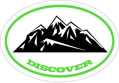 WickedGoodz Vinyl Discover Decal - Mountain Bumper Sticker - Perfect Hiking Gift-WickedGoodz