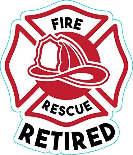 WickedGoodz Fire and Rescue Vinyl Decal - Retired Bumper Sticker - Perfect Firefighter Gift-WickedGoodz
