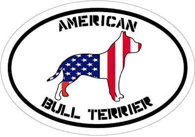WickedGoodz Oval Proud Pitbull Mom Vinyl Decal Pit Bull Bumper Sticker Perfect American Bull Terrier Gift