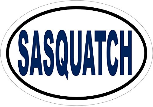 WickedGoodz Blue Sasquatch Vinyl Window Decal - Bigfoot Bumper Sticker - Perfect Yeti Paranormal Gift-WickedGoodz