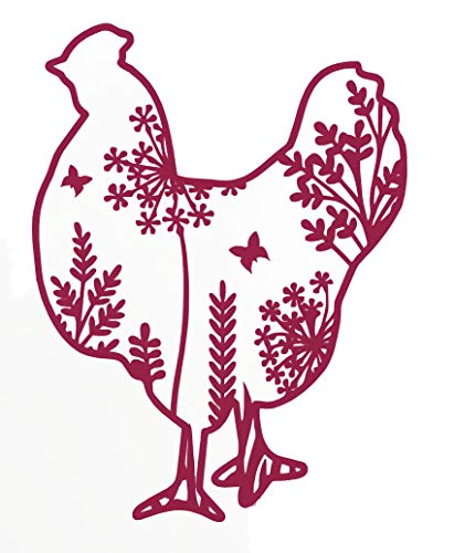 WickedGoodz Custom Chicken Vinyl Decal - Personalized Hen Sticker - Pick Your Size and Color-WickedGoodz