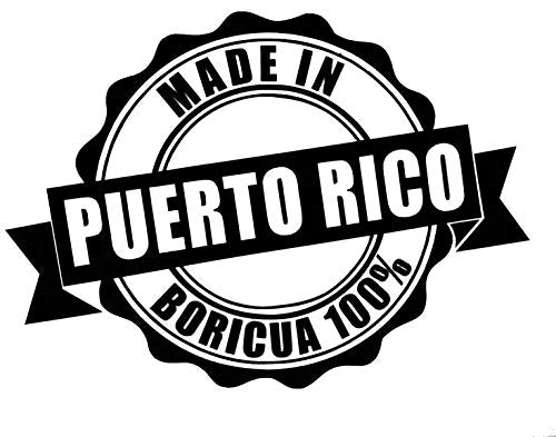 Custom Made In Puerto Rico Vinyl Decal - Personalized Puerto Rican Bumper Sticker, for Laptops or Car Windows - Pick Size and Color-WickedGoodz
