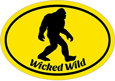 WickedGoodz Wicked Wild Bigfoot Vinyl Decal - Sasquatch Bumper Sticker - Perfect Funny Outdoors Gift-WickedGoodz