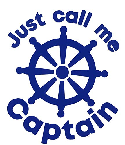 Custom Vinyl Call Me Captain Anchor Decal, Nautical Love Bumper Sticker, for Tumblers, Laptops, Car Windows-WickedGoodz
