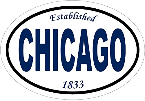 Oval Chicago Vinyl Decal-WickedGoodz