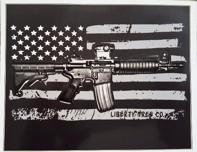 American Flag AR 15 Vinyl Sticker-WickedGoodz