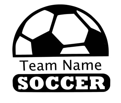 Soccer Team Name Name Vinyl Decal
