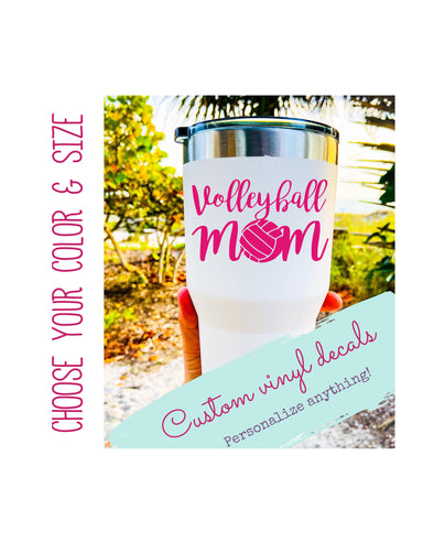 Custom Volleyball Mom Vinyl Decal style 7