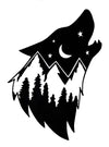 Wolf Mountain Vinyl Decal