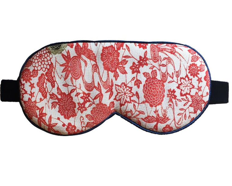 Autumn Leaves Print Mulberry Silk Eye Masks