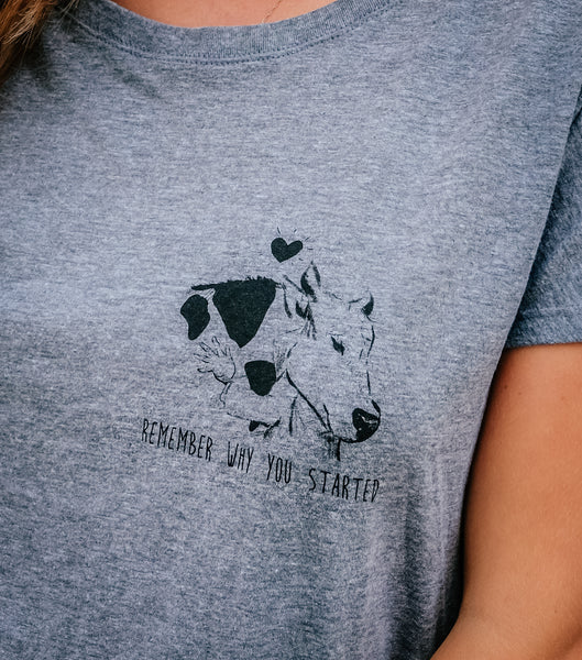 Remember Why You Started Slouchy Tee - Crew Neck (Women's)
