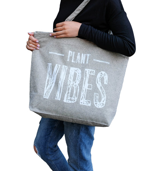 Plant Vibes Zippered Tote