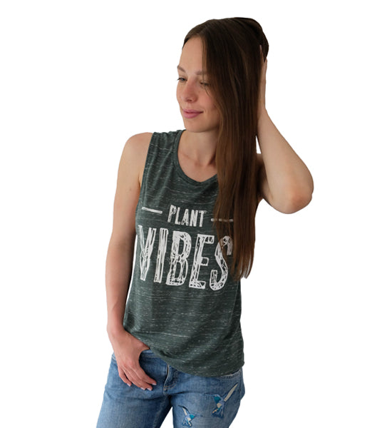 Plant Vibes Muscle Tank - Green Marble (Women's)