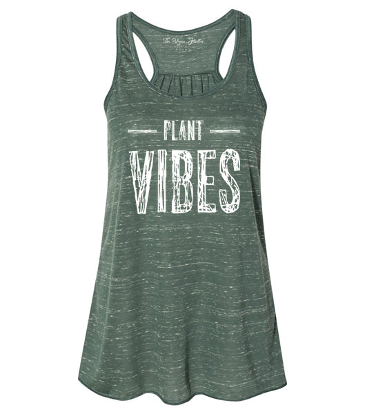 Plant Vibes Racerback Tank - Green Marble (Women's)