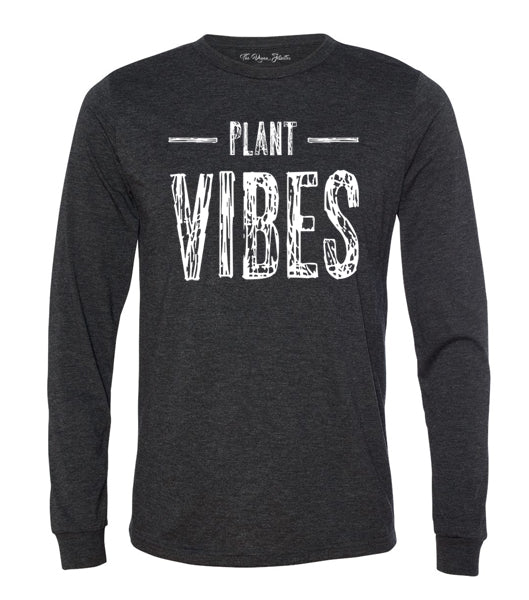 Plant Vibes Long Sleeve - Charcoal Black (Unisex)