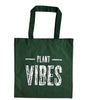 Plant Vibes Dark Green Shopping Bag