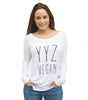 YYZ Slouchy Long Sleeve with Ribbed Sleeves