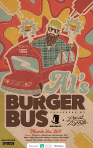 All aboard Al's Burger Bus!