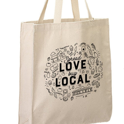 NEW Buy Local Canvas Tote