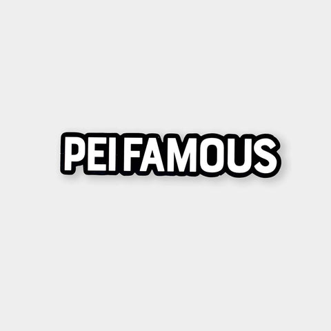 PEI Famous Sticker