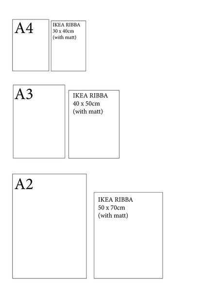 Framing your Wall Charts - A Quick Size Guide – Alma B Charts