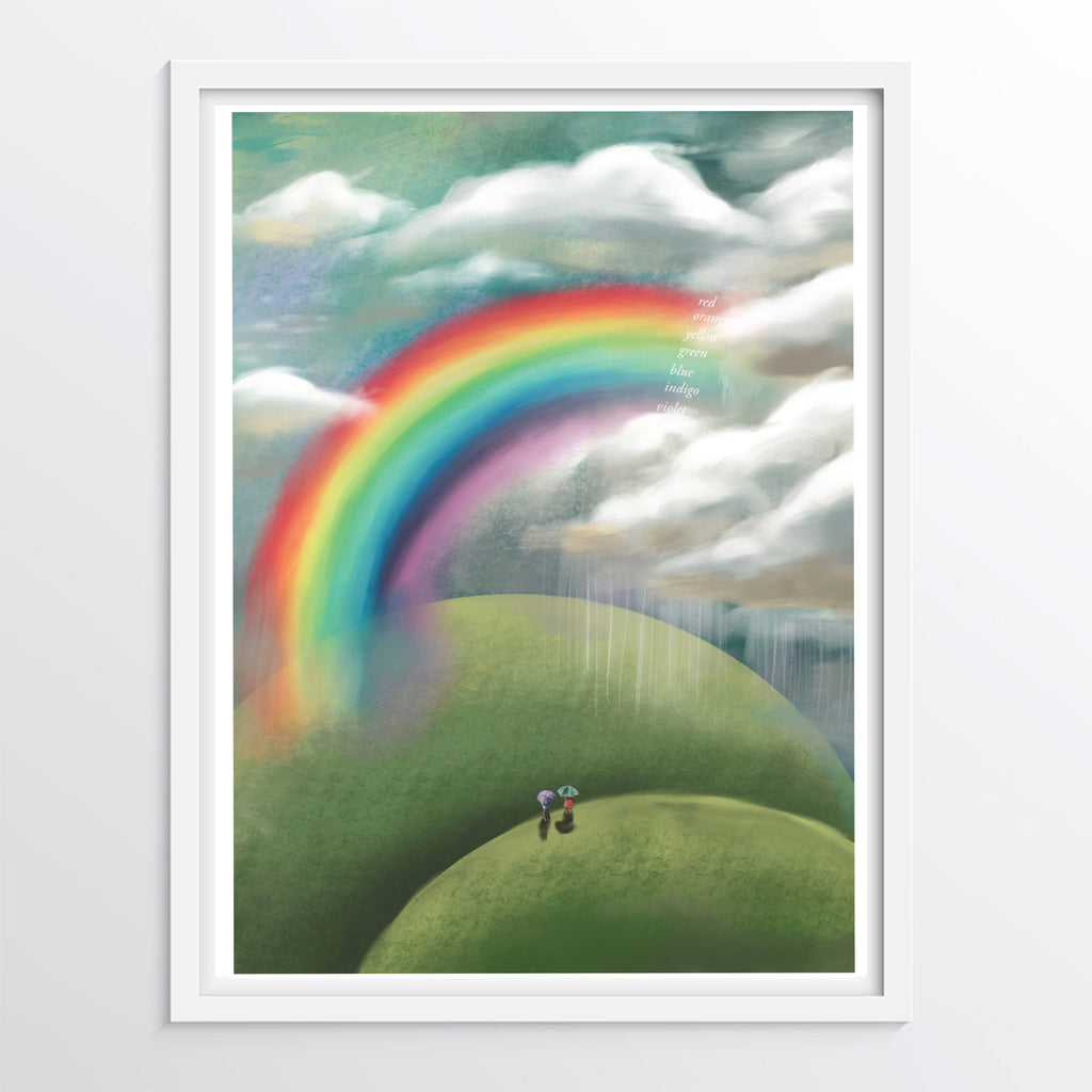 Children's Rainbow Colour Chart illustration - Educational Poster