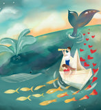 Adventures at Sea - creative nursery decor illustration