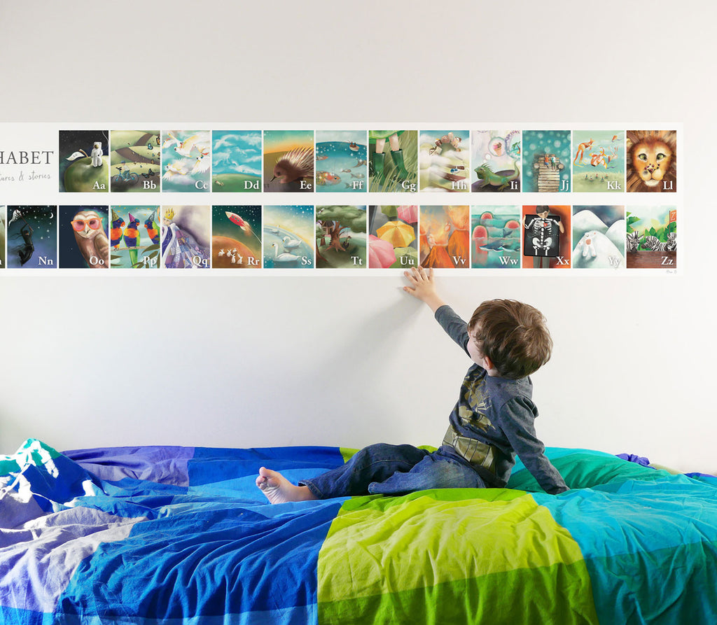 Alphabet Wall Sticker - extra large adhesive wall art for children's rooms