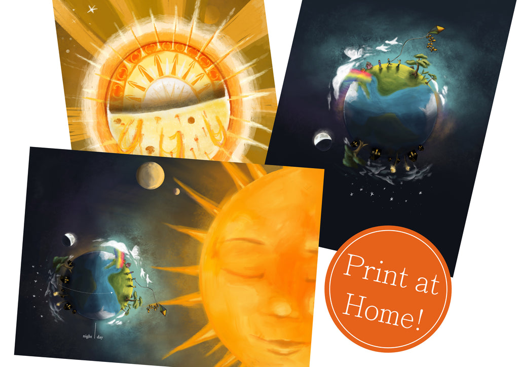 Day and Night on Earth - Printable Science Poster Set