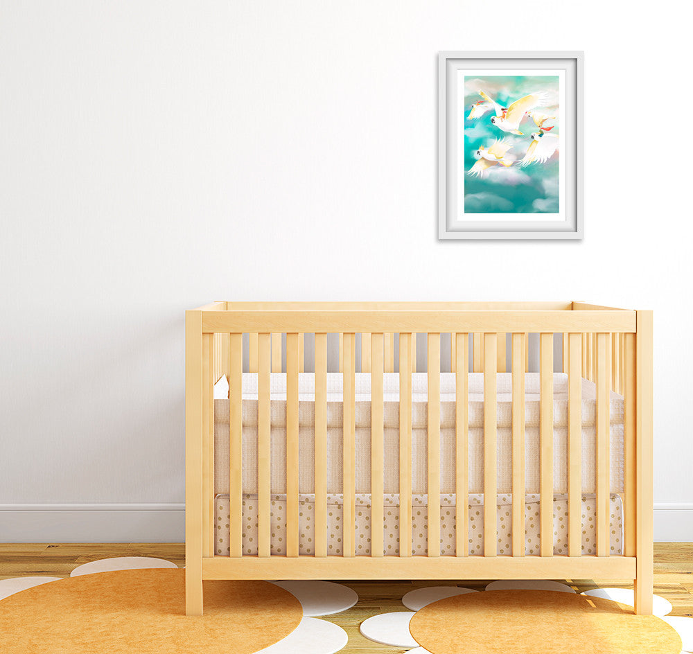 Caped Crusaders Nursery Art Print (Letter C)