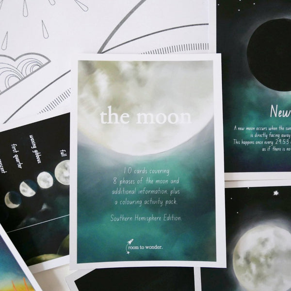 Moon Phase Flash Cards and Activity Pack