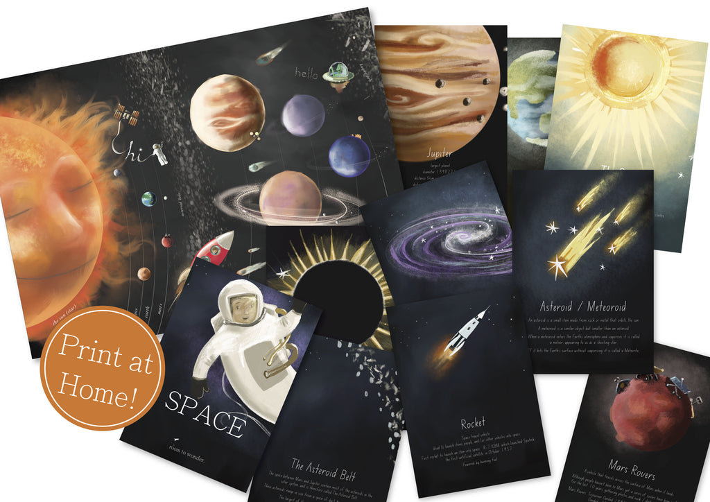 Solar System Printable Flashcards and Learning Pack