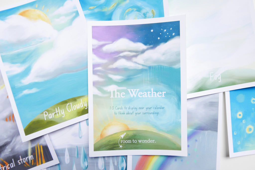 Printable Weather Flashcards, daily ritual cards