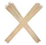 "Bamboo Marshmallow Sticks 36"" Wooden Skewers, 110 Pieces. Environmentally Safe 100% Biodegradable"