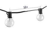 25Ft G40 Globe String Lights with Clear Bulbs