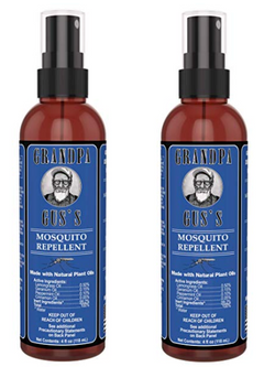 Grandpa Gus's Natural Mosquito Repellent Spray - Camping & RV - 4oz - 2 Pack