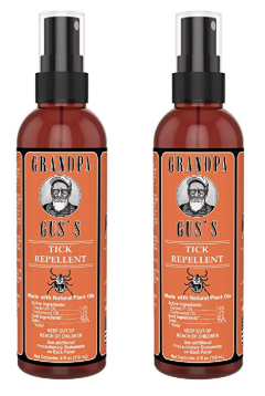 Grandpa Gus Tick Repellent Spray - 4oz - 2 Pack