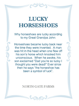 North Gate Farms Lucky Horseshoe