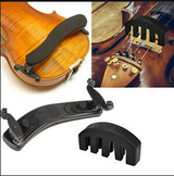 The Zayshley's Violin Shoulder Rest And Mute Practice Mute Set for 3/4 or 4/4 Violin, Adjustable for Beginners and Professionals, Black