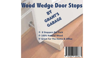 Wooden Door Stop Wedge (8 Pack)