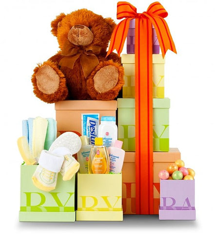 New Baby Gift Tower