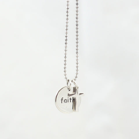 Faith Inspirational Charm Necklace
