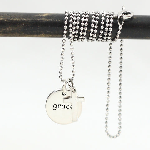 Grace Inspirational Charm Necklace